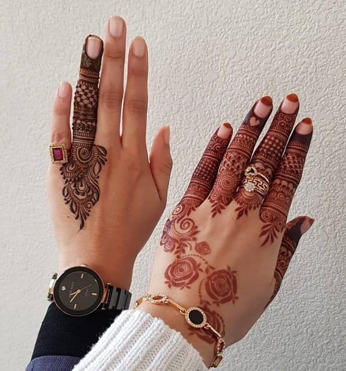 creative backhand easy mehndi designs