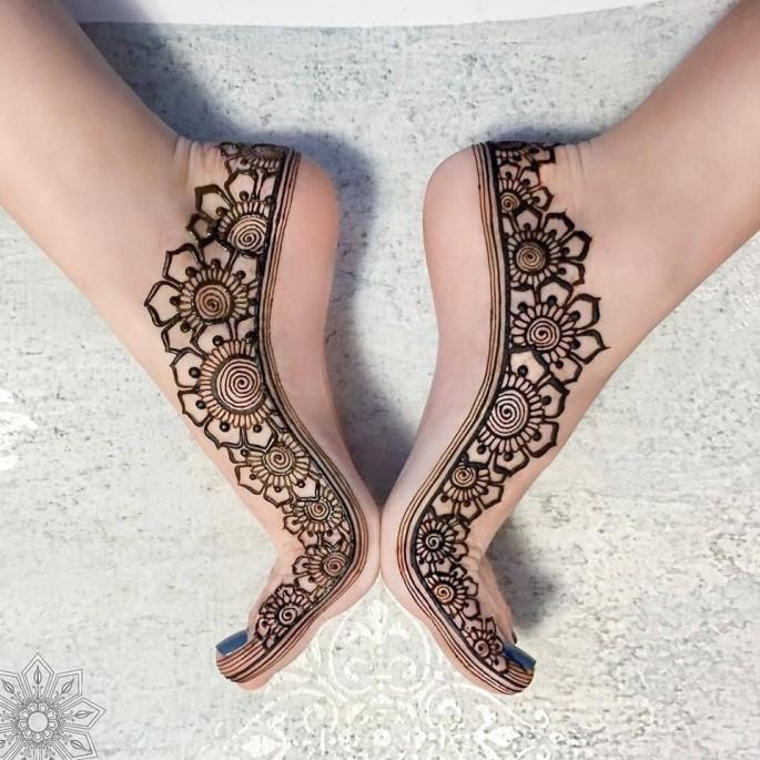 foot easy mehndi designs