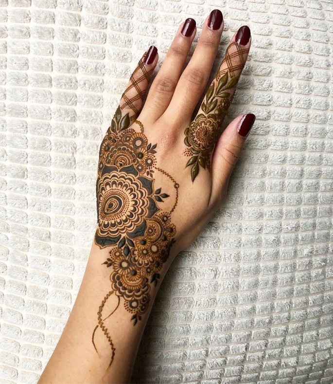 arabic bridal mehndi design ideas