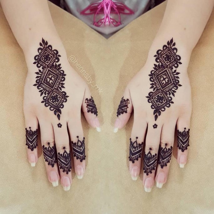 arabic bridal hands mehndi design ideas