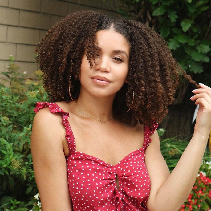Medium Length Curly Hairstyles for Chubby Face