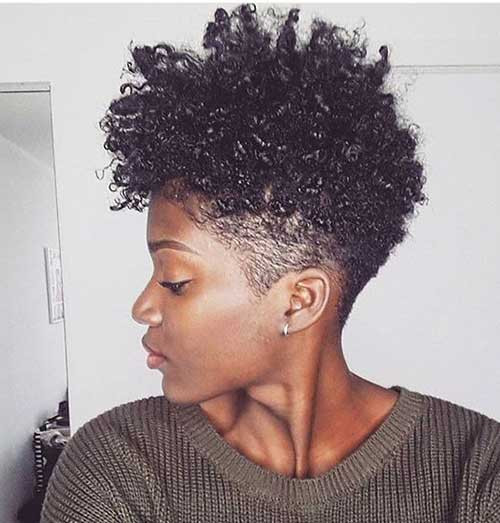 Natural Curly Short Hairstyle for Black Women