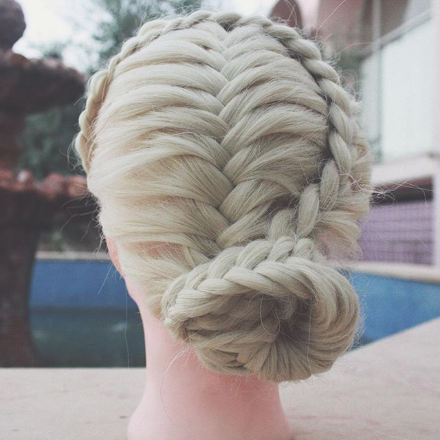 Half Crown Lace Braid-Bun Girls Hairstyles That Are Seriously Cute
