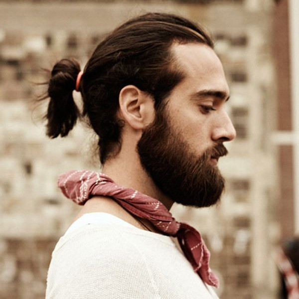 Ponytail Long Hairstyles for Men to Look More Handsome