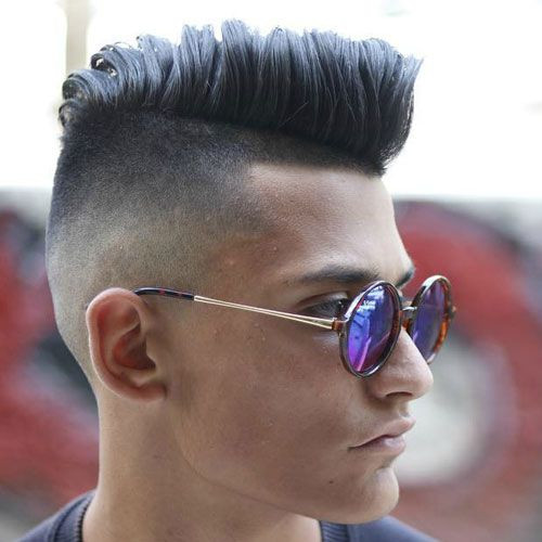 Modern Undercut + Thick Comb Over Short Hairstyles for Men
