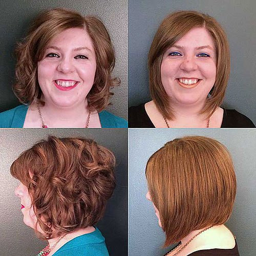 Tousled Medium-Length Bob Hairstyle for Round Faces