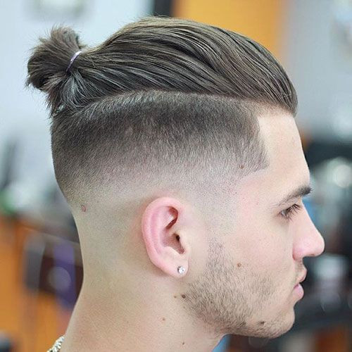 Man bun hairstyles right pose