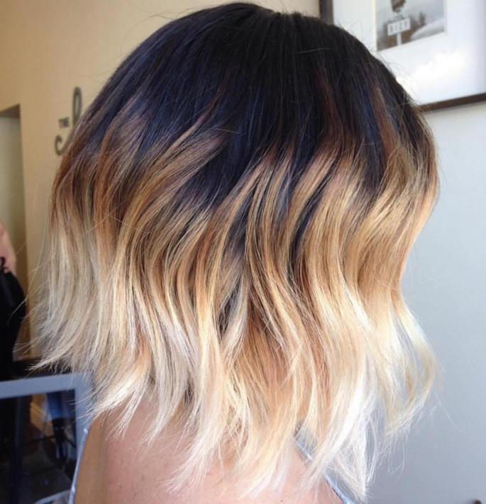 Ombre Style Short Messy Hairstyles Ideas for Women
