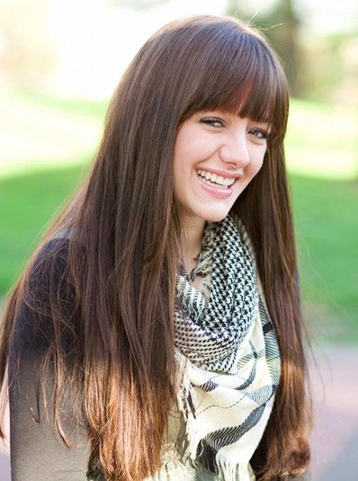 Long, Blunt Bangs Dazzling Hairstyles for Thin Hair to Try Now