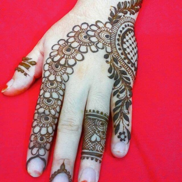 Easy and simple Arm henna mehndi design tutorial