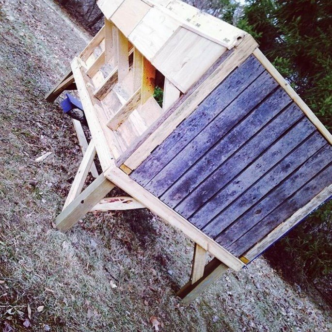 small pallet chicken coop