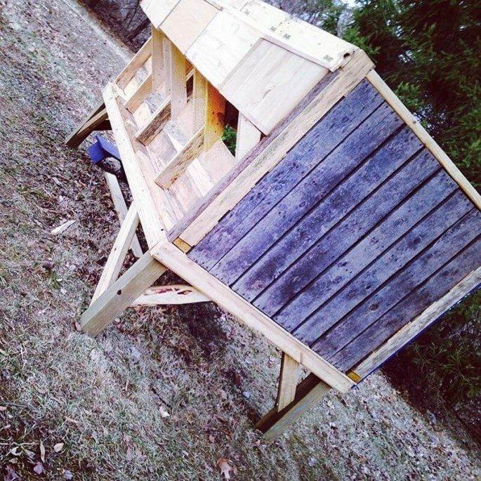 small pallet chicken coop