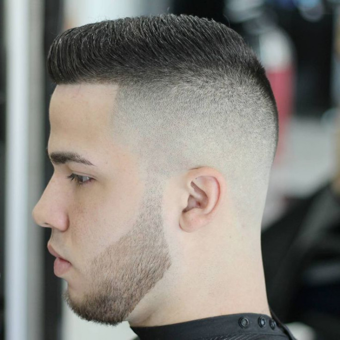 Buzz Haircut Smart Men Hairstyles for Round Faces