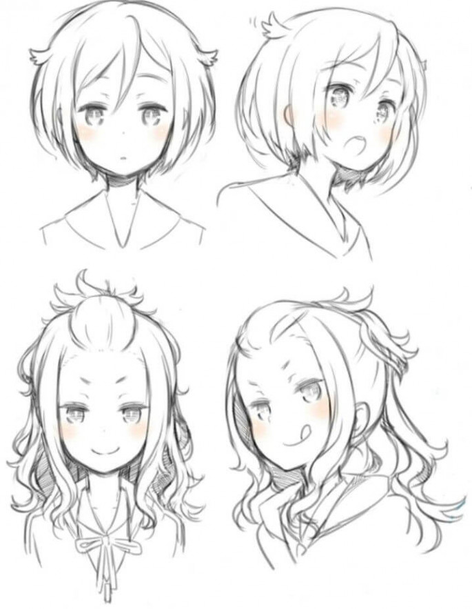 Top 25 anime girl hairstyles collection