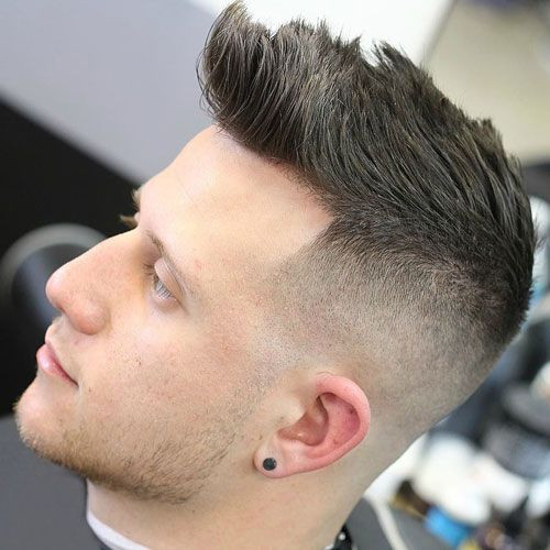 Faded High Quiff Asian Hairstyles for Men