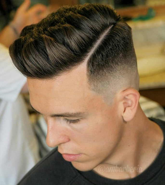 Faded Under-Cut Short Hairstyles for Men with Fine Hair