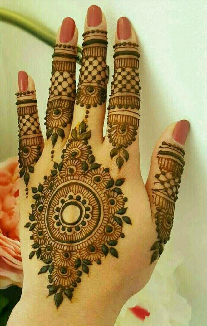 unique Simple Mehndi Designs for back Hands 2018