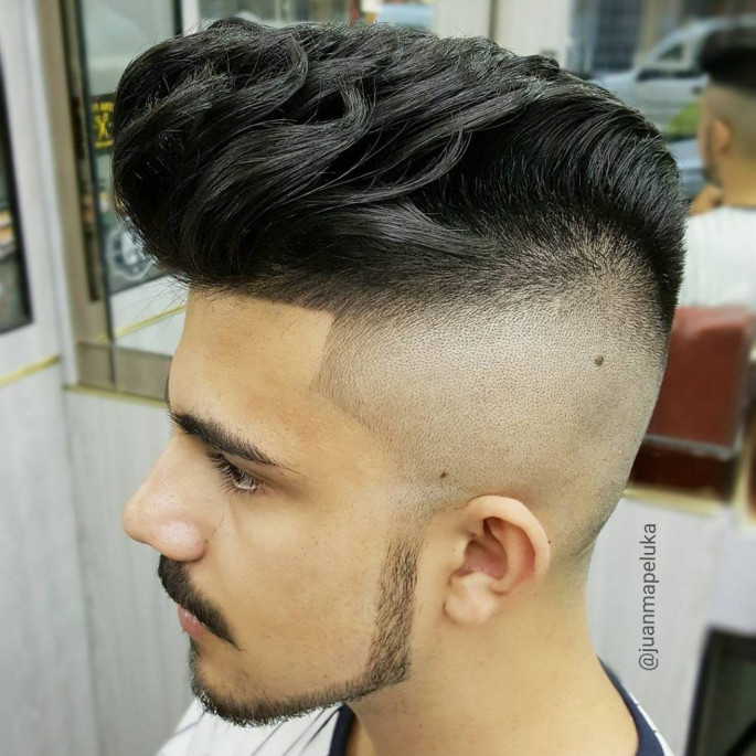 Pompadour Paired With High Fades Asian Hairstyles for Men