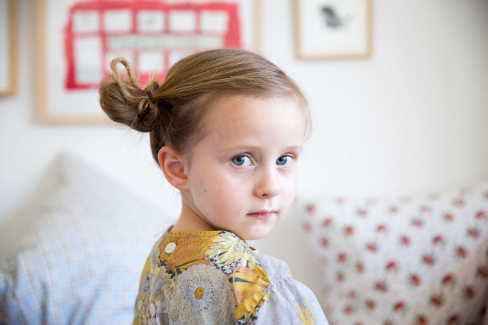 Ear Buns Bow Little Girls' Hairstyles For Your Princess