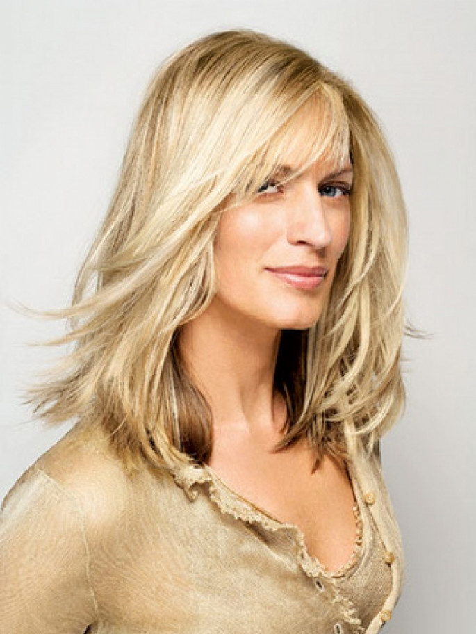 Sensual Long Layered Hairstyles for Women Over 40s