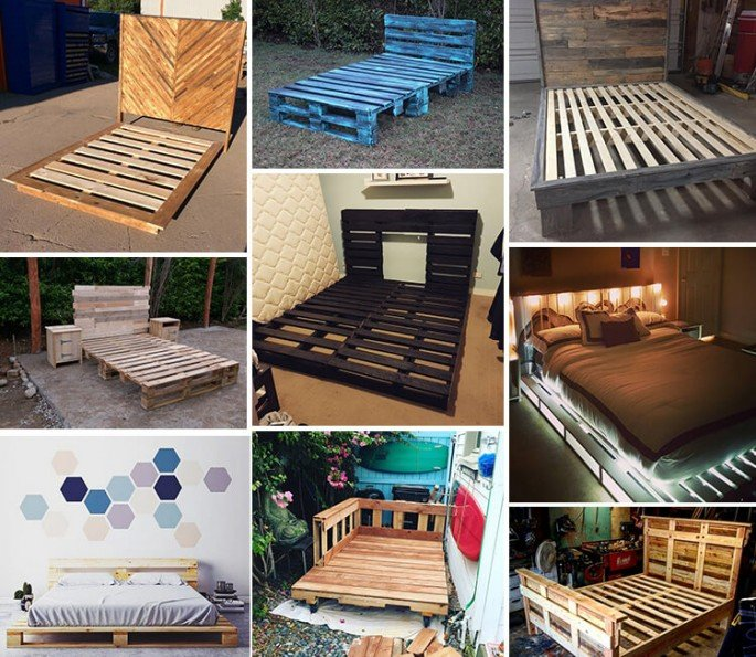 Best 20+ Recycled Pallet Bed Frame and Storage Ideas