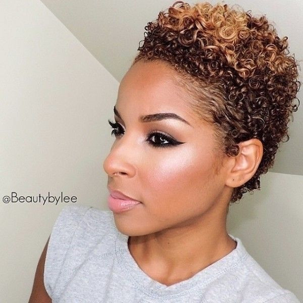 Blonde Short Hairstyle for Black Women