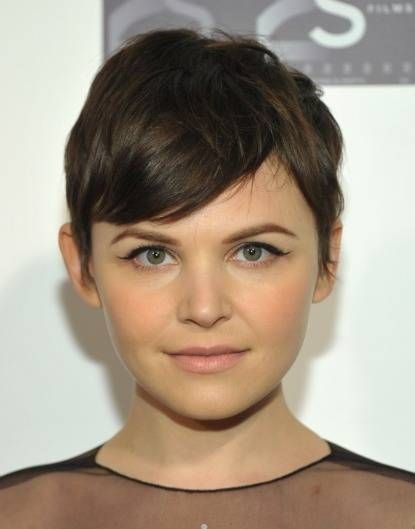 Side-Parted Fro Short Hairstyle for Round Faces
