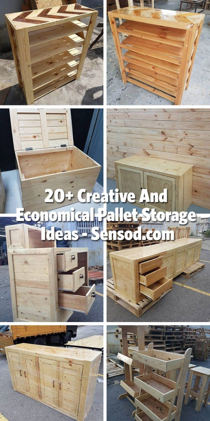 20+ Creative And Economical Pallet Storage Ideas