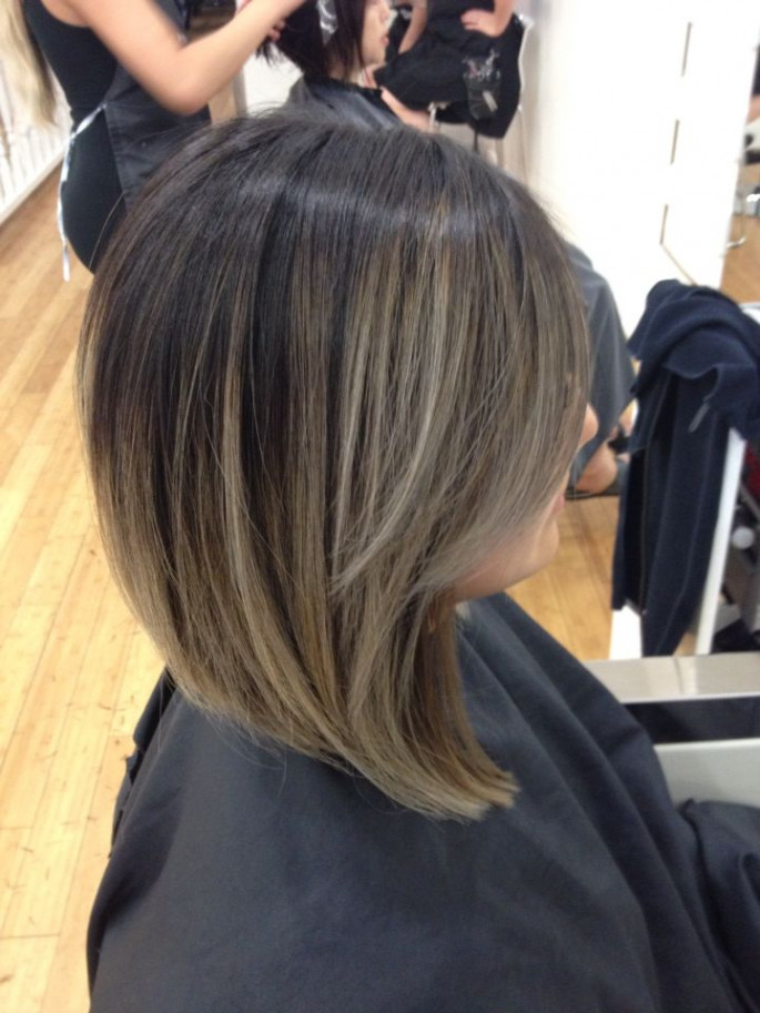 Angled Bob Asian Hairstyles for Girls