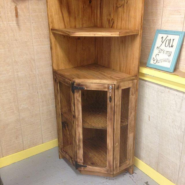 Pallet Custom corner cabinet