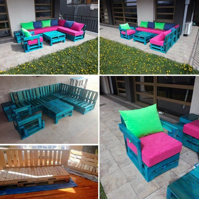 Creative Pallet Couch Projects ideas Made From Wood