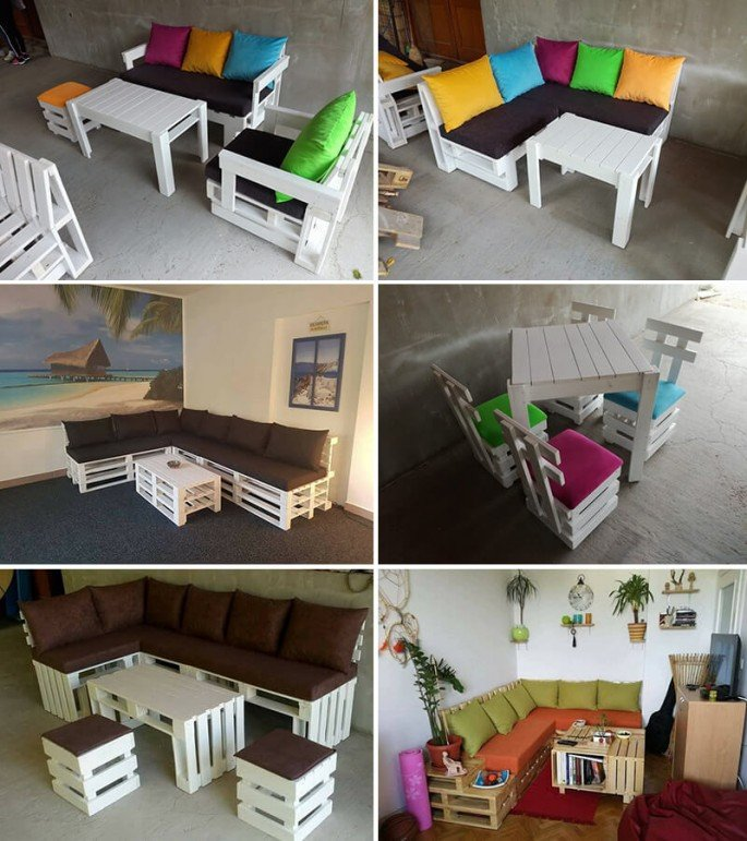 Diy Pallet Chair Design Ideas To Try: DIY Pallet Indoor Sofa Projects Ideas