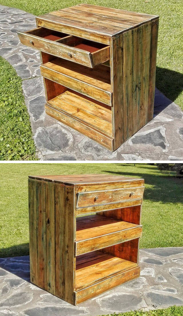 Pallet storage drawers