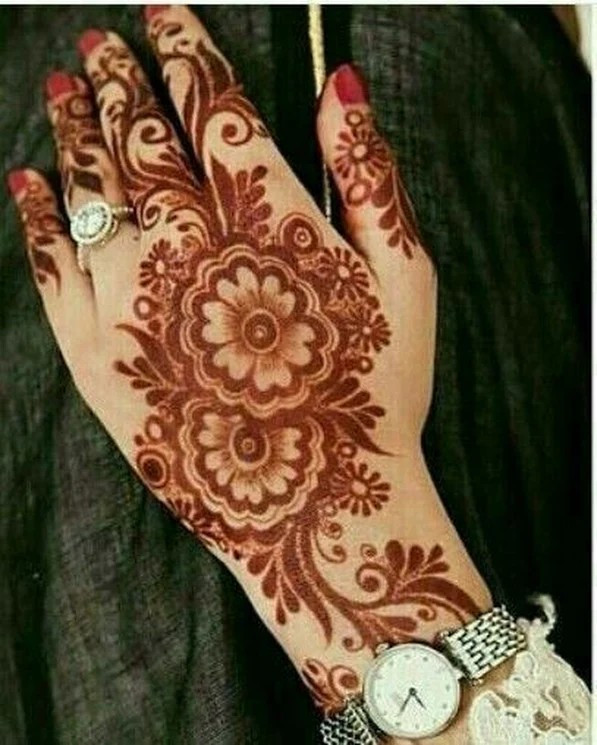Vines and Floral Inspired Creative henna designs