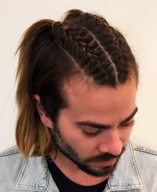 Extra-long hair for men over 50