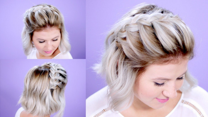 Braided Donut Hairstyles For Short Hair-Medium Length Hair