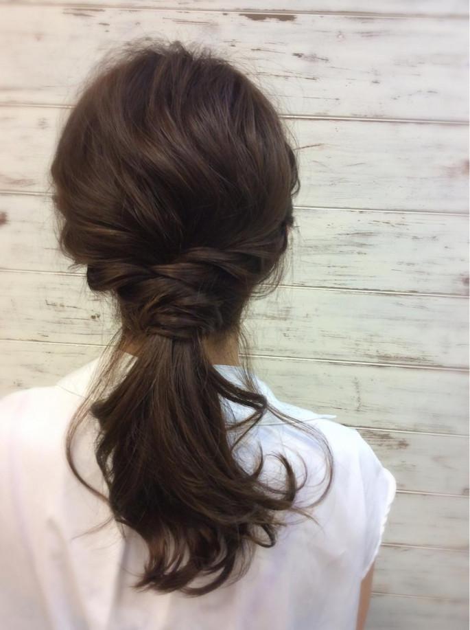 Voluminous Ponytail Asian Hairstyles for Girls