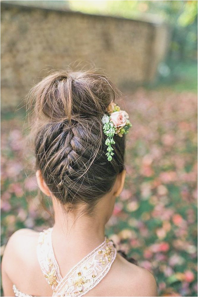 Messy Top Knots Little Girls' Hairstyles For Your Princess