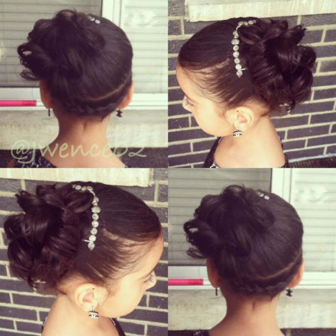 Low Updo Hairstyles for Little Girls