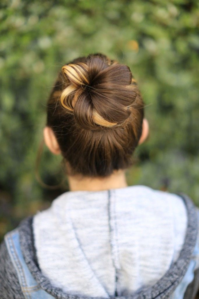 Flower Bun Girls Hairstyles That Are Seriously Cute
