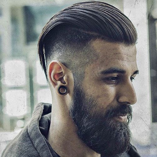 High Taper Fade With Long Slicked Back Hair Short Hairstyles for Men