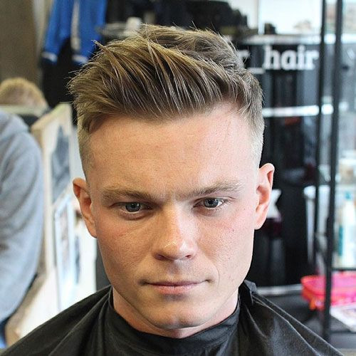 Fade with Messy Hair & Brush UP Short Hairstyles for Men