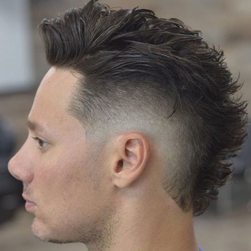 Faux Hawk With High Burst Fade Short Hairstyles for MenFaux Hawk With High Burst Fade Short Hairstyles for Men