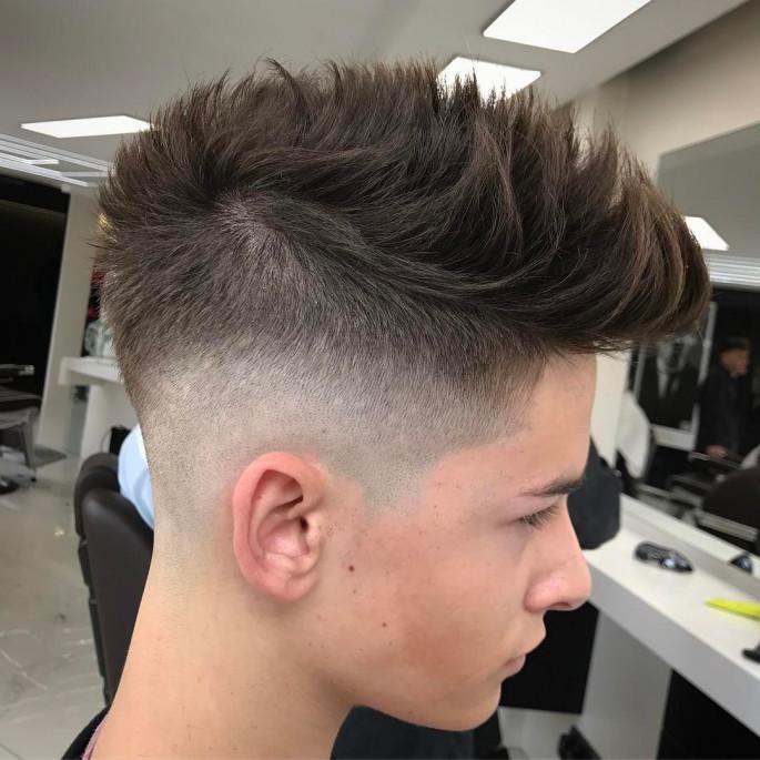 Mohawk Fade Medium Length Men's Hairstyles