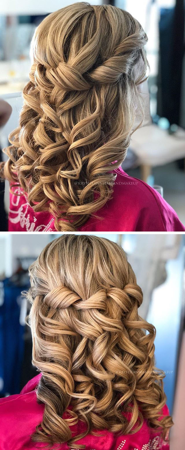 Bridal curly women hairstyles