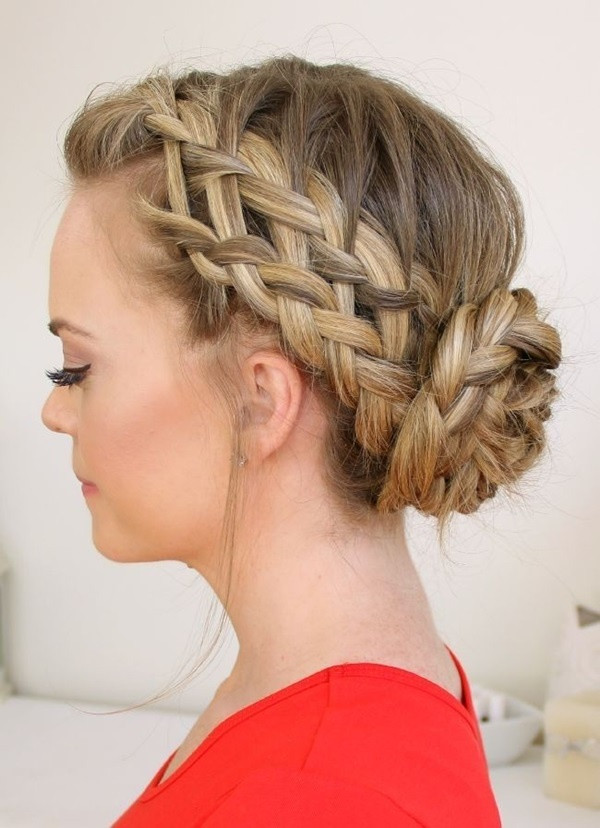French Braid Low Chignon