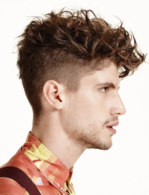 Perform Men curl Hairstyle