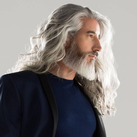 Extra-long hair for men over