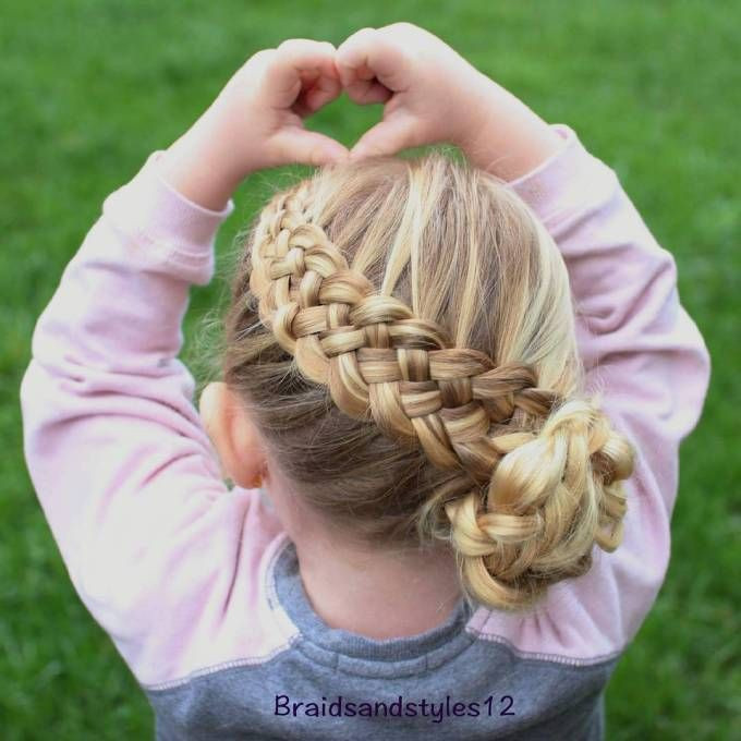 Braid Basket Hairstyles for Little Girls