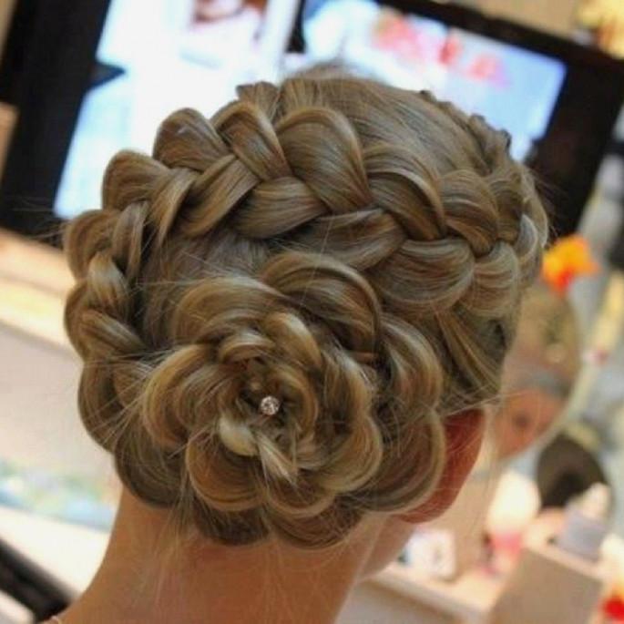 Rose Bun Hairstyles for Little Girls
